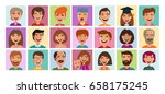 people set of icons. avatar... | Shutterstock .eps vector #658175245