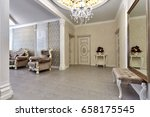 entrance hall  with a beautiful ... | Shutterstock . vector #658175545
