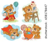 set of vector clip art... | Shutterstock .eps vector #658178647