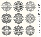 set of vector templates of...   Shutterstock .eps vector #658181455