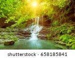 beautiful mountain rainforest... | Shutterstock . vector #658185841