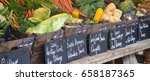 display of local organic... | Shutterstock . vector #658187365
