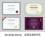 big set of diploma or... | Shutterstock .eps vector #658188445