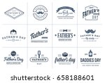 set of vector happy fathers day.... | Shutterstock .eps vector #658188601