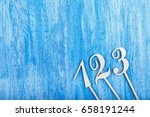 wooden numbers one  two  three...   Shutterstock . vector #658191244