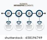 modern infographic options... | Shutterstock .eps vector #658196749