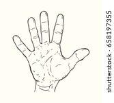 vector hand drawn illustration... | Shutterstock .eps vector #658197355