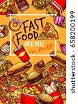 fast food restaurant menu... | Shutterstock .eps vector #658200199
