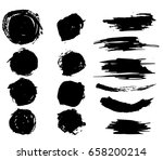 ink vector stains set   dry... | Shutterstock .eps vector #658200214