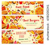 fast food banners set of... | Shutterstock .eps vector #658200241