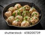 swedish style meatball | Shutterstock . vector #658200739