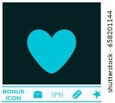 heart icon flat. blue pictogram ...