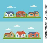 house icon set  flat  eps 8  no ... | Shutterstock .eps vector #658203709