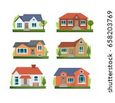 house icon set  flat  eps 8  no ... | Shutterstock .eps vector #658203769