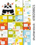 vector photo book with cartoon... | Shutterstock .eps vector #658208821