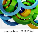 vector 3d rings and swirls... | Shutterstock .eps vector #658209967