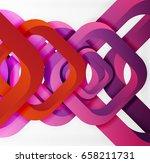 square vector background  3d... | Shutterstock .eps vector #658211731