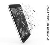 phone with broken screen... | Shutterstock . vector #658214434
