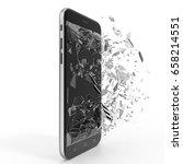 phone with broken screen... | Shutterstock . vector #658214551