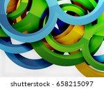 3d rings and swirls design... | Shutterstock . vector #658215097