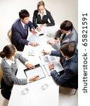 team of five business people... | Shutterstock . vector #65821591
