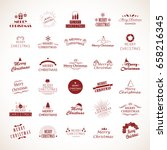 christmas icons set isolated on ... | Shutterstock .eps vector #658216345