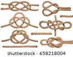 Set Nautical Rope Knot Isolated - Fine Art prints