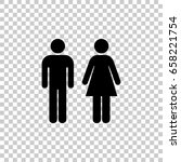 man and woman icon isolated on... | Shutterstock .eps vector #658221754