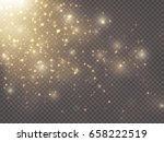 gold glittering star dust.... | Shutterstock .eps vector #658222519