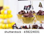 Close Up Of Cupcakes On Stand...