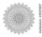 floral mandala  vector... | Shutterstock .eps vector #658225837