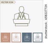 line icon  speaker icon. orator ... | Shutterstock .eps vector #658227724
