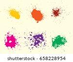 vector paint splatters.colorful ...   Shutterstock .eps vector #658228954