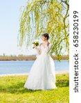 wedding. young beautiful bride... | Shutterstock . vector #658230199
