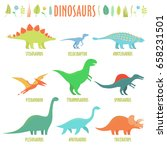 Dinosaurs Set. Types Of...
