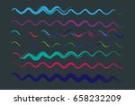 hand painted vector ink waves... | Shutterstock .eps vector #658232209