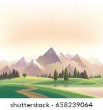 wildlife decorative landscape... | Shutterstock .eps vector #658239064