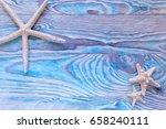 summer sea background   shells  ... | Shutterstock . vector #658240111