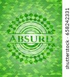 absurd green emblem. mosaic...