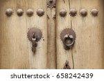 iran knock door style  man use...   Shutterstock . vector #658242439