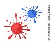 drops  spray paint.paintball... | Shutterstock .eps vector #658258681