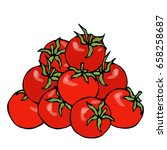 a bunch of red fresh ripe... | Shutterstock .eps vector #658258687