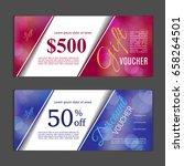 gift voucher template. can be... | Shutterstock .eps vector #658264501