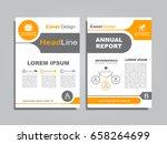 design brochure layout with... | Shutterstock .eps vector #658264699