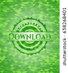 download green emblem. mosaic...
