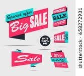 set of sale banners on a light... | Shutterstock .eps vector #658272931
