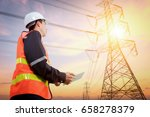 electrical engineer with high... | Shutterstock . vector #658278379