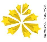 a set of stars. yellow stars... | Shutterstock . vector #658279981