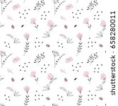 floral seamless pattern | Shutterstock .eps vector #658280011