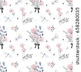 floral seamless pattern | Shutterstock .eps vector #658280035
